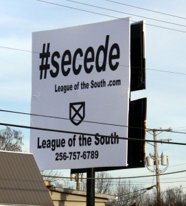 #secede billboard Harrison Ark Jan 2015