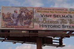 Forrest billboard in Selma, Alabama, greets civil rights marchers