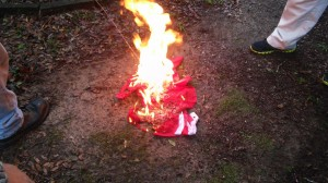 Commie flag burning in Florida april 2015