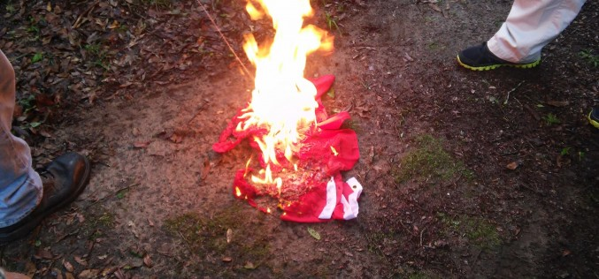 Burning the commie flag in Florida
