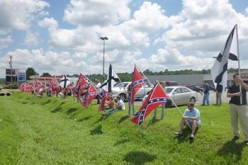 Harrison, Arkansas, flag rally