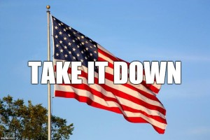 US flag Take it Down June 2015