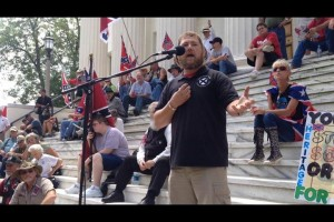 William Flowers speaking at Ala. flag rally June 2015
