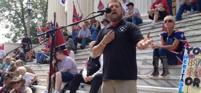 William Flowers addresses flag rally in Montgomery (video)