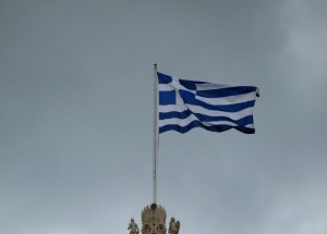 Greek flag July 2015