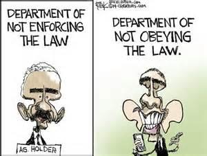 Obama Holder not enforcing law Sept 2015