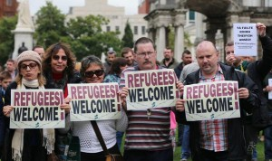 Refugees Welcome in Belfast Sept 2015