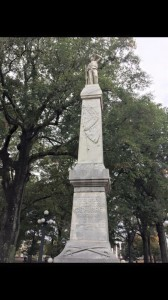 Confederate monument at Ole Miss Oct 2015