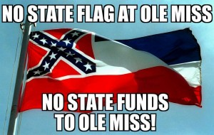 No State flag at Ole Miss Oct 2015