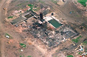 A file photo dated 21 April 1993 of an aerial shot