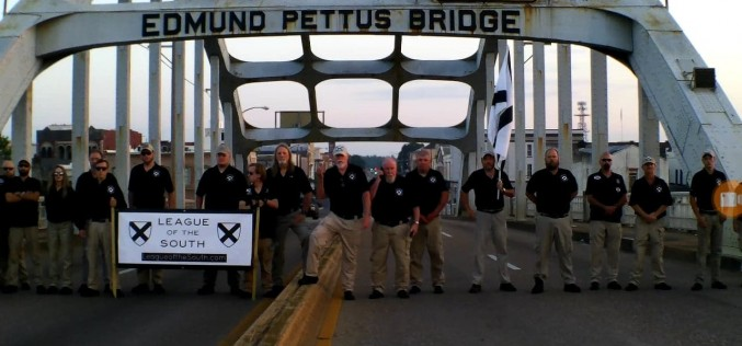 The League on the Edmund Pettus Bridge