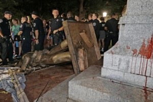 Silent Sam torn down Aug 2018